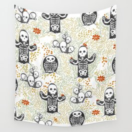Skeleton Cacti Wall Tapestry