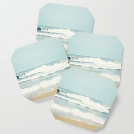 Ocean Photography, Calming Sea Photo, Blue Waves Seascape Photograph, Beach Print Coaster