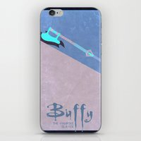 buffy the vampire slayer iPhone & iPod Skins featuring Buffy by Cloysterbell