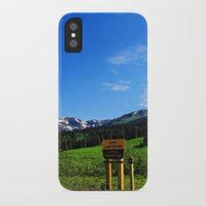 Gothic Campground Slim Case iPhone X
