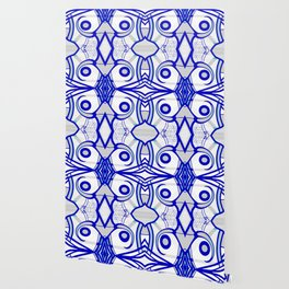 Blue morning - abstract decorative pattern Wallpaper