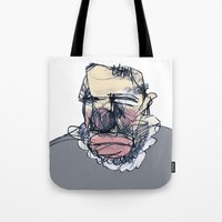 clown Tote Bags featuring clown by jenapaul