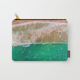 Surfers Paddling Out Carry-All Pouch
