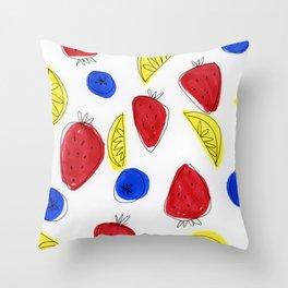 Mixed Fruit Throw Pillow