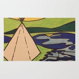 Teepee native sun Rug