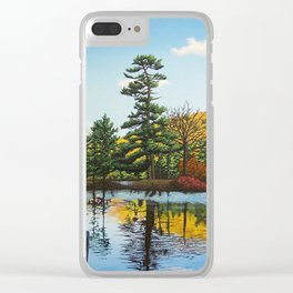 Ivy Island in Autumn Clear iPhone Case