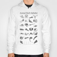 animal skull Hoodies featuring Animal Skull Alphabet by Stephan Brusche