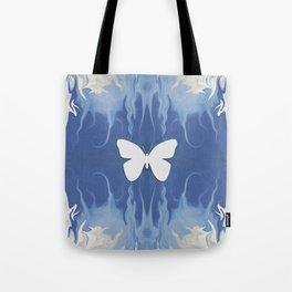 Floating through the Blue Haze... Tote Bag