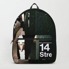 Speeding Subway Train Backpack