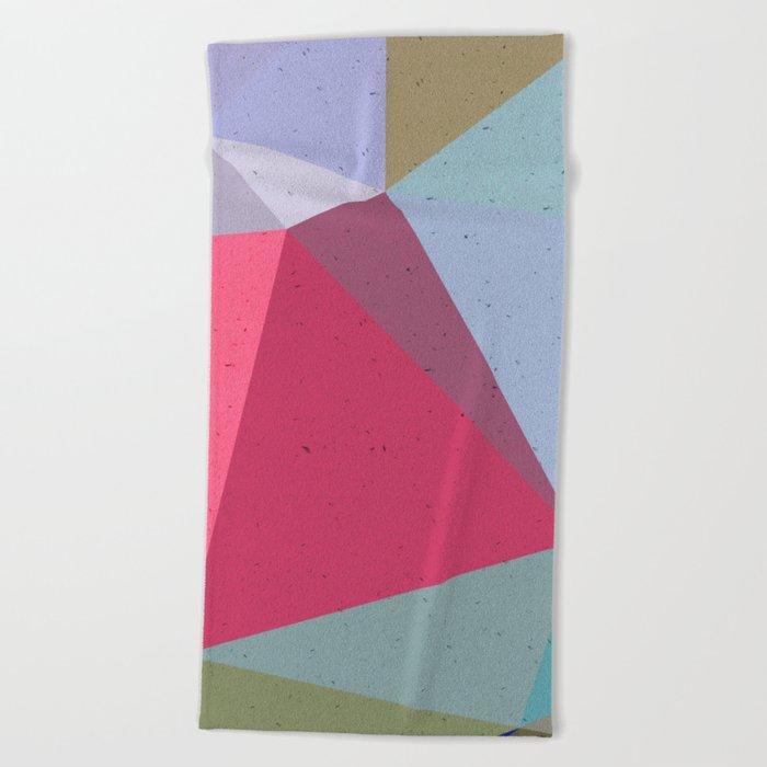 Colourful geometry Beach Towel