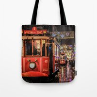 istanbul Tote Bags featuring Istanbul by Seza Kaymak