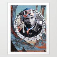 pilot Art Prints featuring Pilot by Jedi Master Schmidt