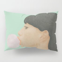 Blowing Bubble Gum Pillow Sham