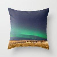 aurora Throw Pillows featuring Aurora by maisie ong