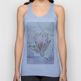 Waterlily Abstract Unisex Tank Top