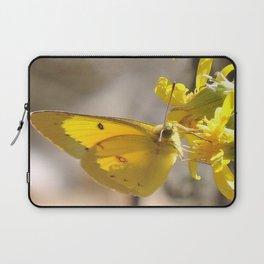 Sulphur Butterfly Imbibing Laptop Sleeve