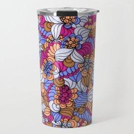 Rustic Swirly Flowers Travel Mug