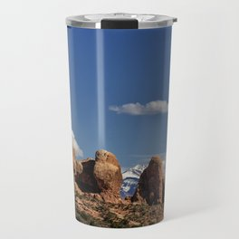 Between Two Worlds - Arches National Park Travel Mug