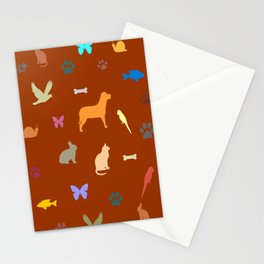 Animal Lovers Art Work Stationery Cards