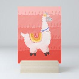 Happy Llama Mini Art Print