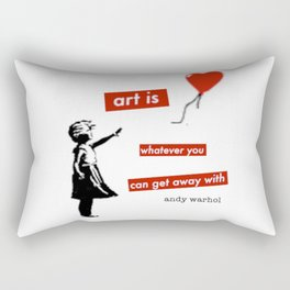 Funny quote about art and popular culture Rectangular Pillow