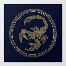 Golden Zodiac Series - Scorpio Canvas Print