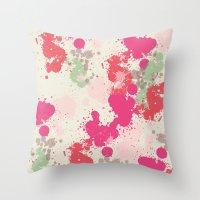 splatter Throw Pillows featuring Splatter by C Designz