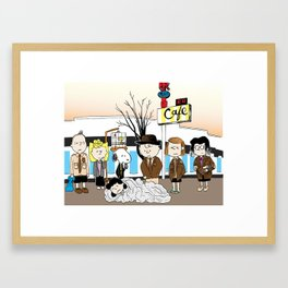 Twin Peanuts Framed Art Print