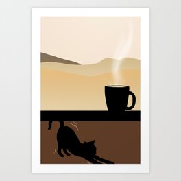 Coffee and Chill Art Print