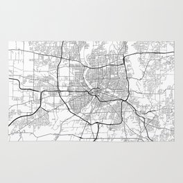 Minimal City Maps - Map Of Rochester, New York, Untited States Rug
