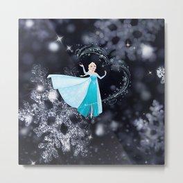 Elsa-Frozen Metal Print