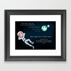 Bowie - Goodbye Major Tom Framed Art Print