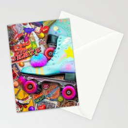 Super Retro Roller Skate Night Stationery Cards