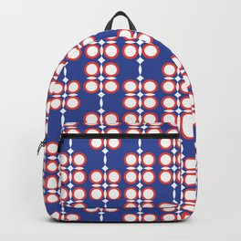 Geometric hanging flowers on blue Backpack