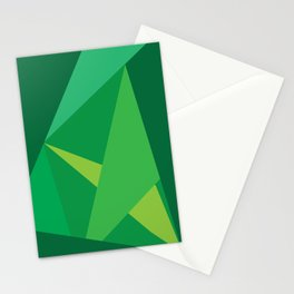 Green Fractal Pattern Stationery Cards