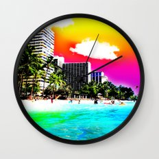 Waikiki Beach Part II Wall Clock
