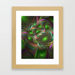 Colorful and Luminous, Abstract Fractal Art Framed Art Print