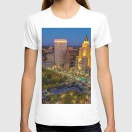 Providence, Rhode Island Night Skyline T-shirt