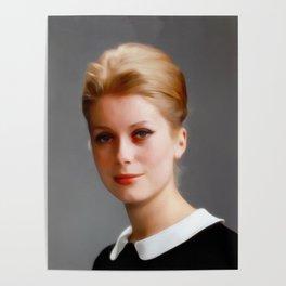 Catharine Deneuve, Vintage Actress Poster