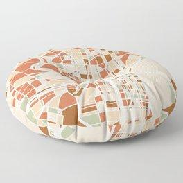 PHILADELPHIA PENNSYLVANIA CITY MAP EARTH TONES Floor Pillow