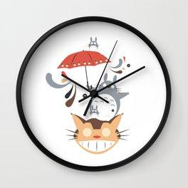 studio ghibli umbrella Wall Clock