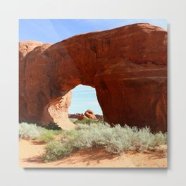 At The End Of The Trail - Pine Tree Arch Metal Print