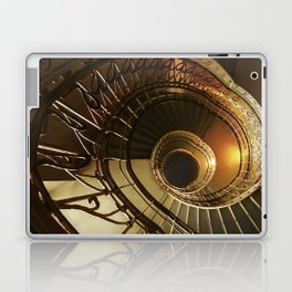 Golden and brown spiral stairs Laptop & iPad Skin