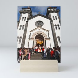 Church in Furnas Mini Art Print