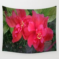 hibiscus Wall Tapestries featuring Hibiscus by NPDesigns
