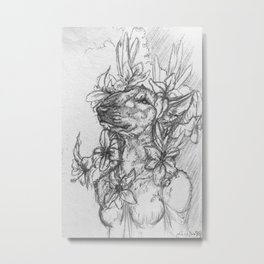 Artists Notes No. 2 - Perceptive Dreamer Metal Print
