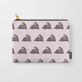 Frank Wallace in Pink Pattern Carry-All Pouch