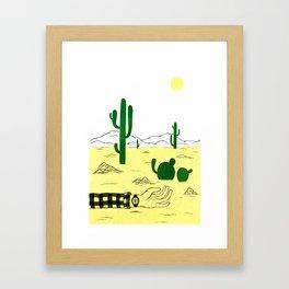 Man & Nature - The Desert Framed Art Print