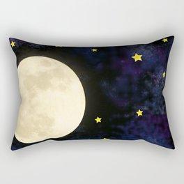 moon in space Rectangular Pillow