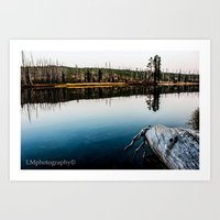 Yellowstone by the River Art Print
